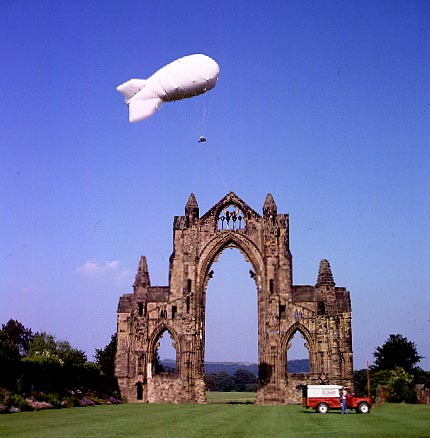Skyscan Balloon Camera in operation at Gisborough Priory